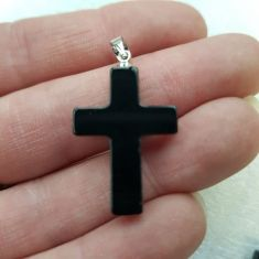 Cross Pendant - Blue Goldstone 1pc