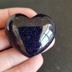 Goldstone Blue Heart 4cm