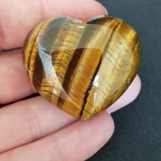 Tiger Eye Heart 4cm