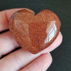 Goldstone Red Heart 4cm