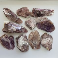 Rough Lepidolite Quality A