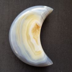 Polished Agate Geode Moon - 05