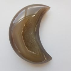Polished Agate Geode Moon - 15