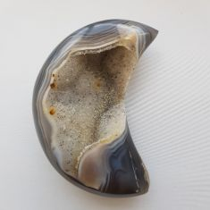Polished Agate Geode Moon - 16