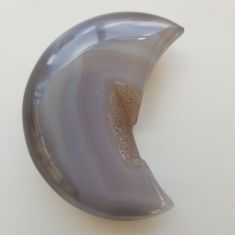 Polished Agate Geode Moon - 11
