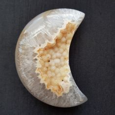 Polished Agate Geode Moon - 01