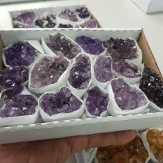 Amethyst Cluster Tray Small