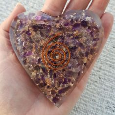 Orgonite Heart - Amethyst
