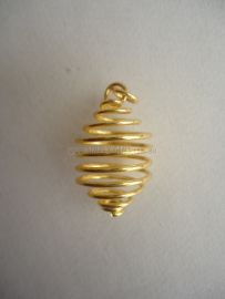 Cage Pendant Small - Golden