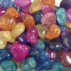 Cracked Crystal (Dyed) Tumbled Stones 250gms