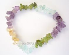Mix 4 Crystals Chip Bracelet