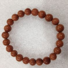 GoldStone Red Beads Bracelet
