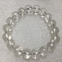 Clear Quartz Beads Bracelet - 10mm
