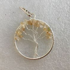 Pendant - Tree of Life - Citrine
