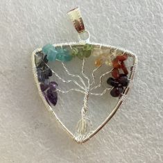 Pendant - Tree of Life - Triangle 7 Chakra