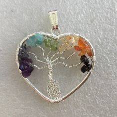 Pendant  - Tree of Life Heart 7 Chakra