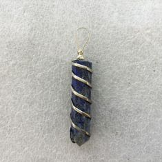 Wire Wrapped Point Pendant - Lapis Lazuli