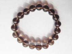 Smoky Quartz Beads Bracelet - 10mm