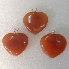 Carnelian Heart Pendant02 - 1pc