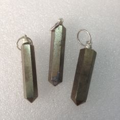 Pyrite Point Pendant02 - 1pc
