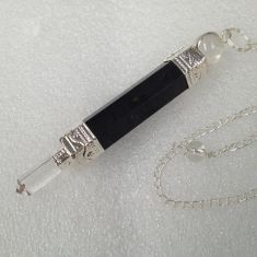 Black Tourmaline Wand Pendulum