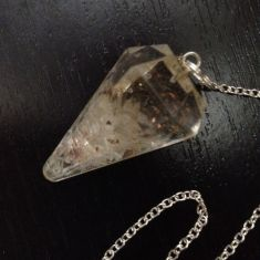 Orgonite Faceted Pendulum - clear qtz