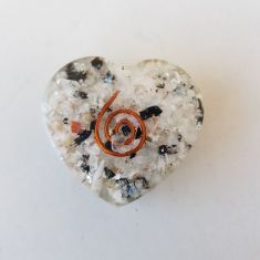 Orgonite Heart - Rainbow Moonstone - SM