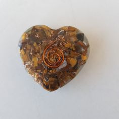 Orgonite Heart - Tigers Eye - SM