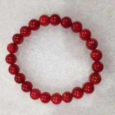 Red Bamboo (Reconstituted) - Beads Bracelet