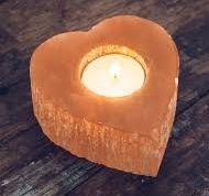 Selenite Heart Candle Tealight Holder