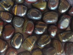Tigers Iron Tumbled Stones 250gms
