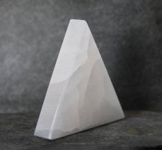 Selenite Triangle Flat - 10cm