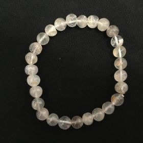 Clear Quartz - With Inclusion - Beads Bracelet