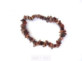 Tiger's Eye Red Chip Bracelet