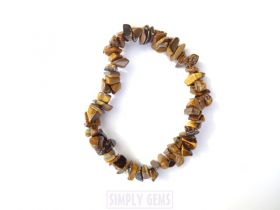 Tigers Eye Yellow Chip Bracelet