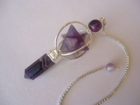 Merkaba Point Pendulum Amethyst