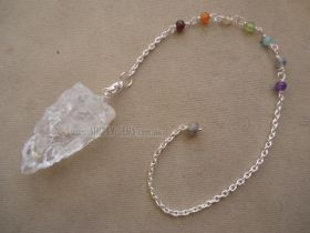 Clear Quartz Rough Pendulum