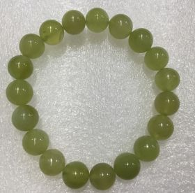 Chinese New Jade Beads Bracelet - 10mm