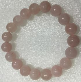 Rose Quartz Beads Bracelet - 10mm