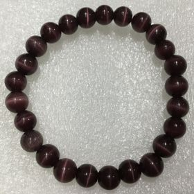 Cats Eye - Purple Beads Bracelet