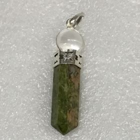 Unakite - Ball Point Pendant