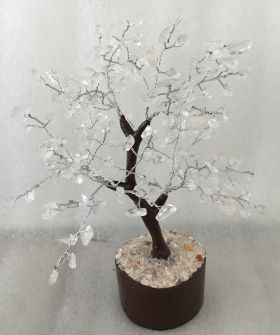 Clear Qtz Tree Medium 014