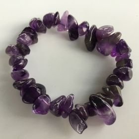 Chip Bracelet - Amethyst - 7mm