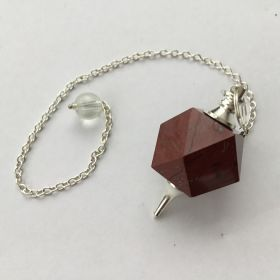 14 Sided Pendulum - Red Jasper