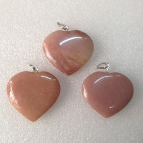 Agate Heart Pendant02 - 1pc