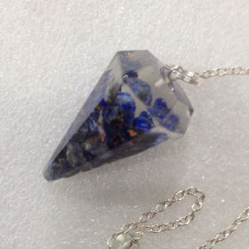 Orgonite Faceted Pendulum - lapis