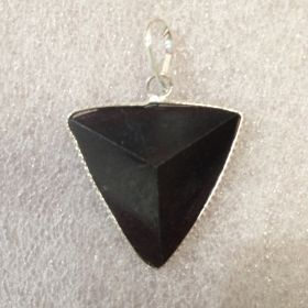 Triangle Pendant - Black Tourmaline