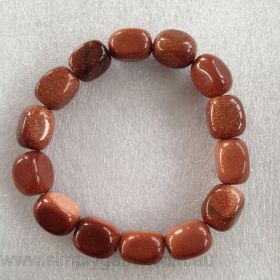 Nugget Bracelet - Goldstone RED