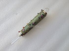 Ruby Fuschite Ball Point Chakra Healing Wand 040