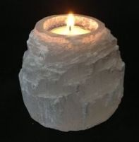Selenite Candle Tealight Holder - Natural Shape